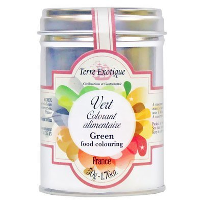 Green food colouring | TERRE EXOTIQUE | 50 g