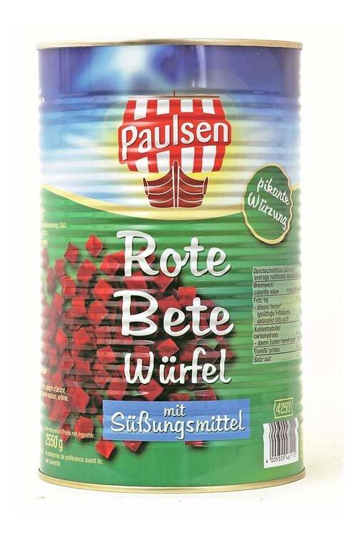 Punajuurikuutiot   Red Beets Cubes   ALFRED PAULSEN   4250 ML