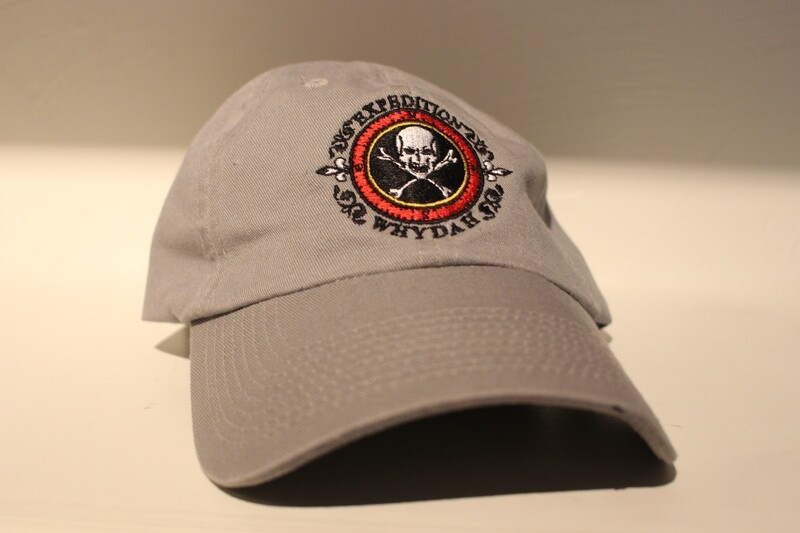 Grey Expedition Whydah Cap with Embroidered Color Logo