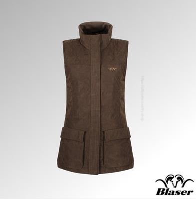 117041-112//604 Blaser Vest Basic Fleece Vest Philipp Chocolate Brown