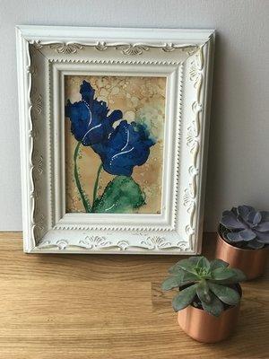 Pretty Blue Roses print