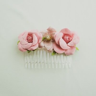 Paper Flower Hair Comb