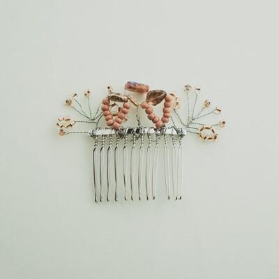 Unique Rose Gold Modern Hair Comb