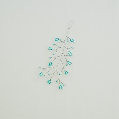 Teal Blue Flower Hair Piece