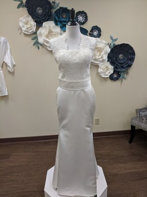 Silk Mermaid with Lace Top- OFF THE RACK ONLY