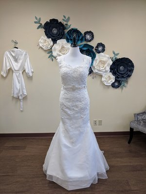 Mermaid Gown with Attached Belt - Sample Size 16