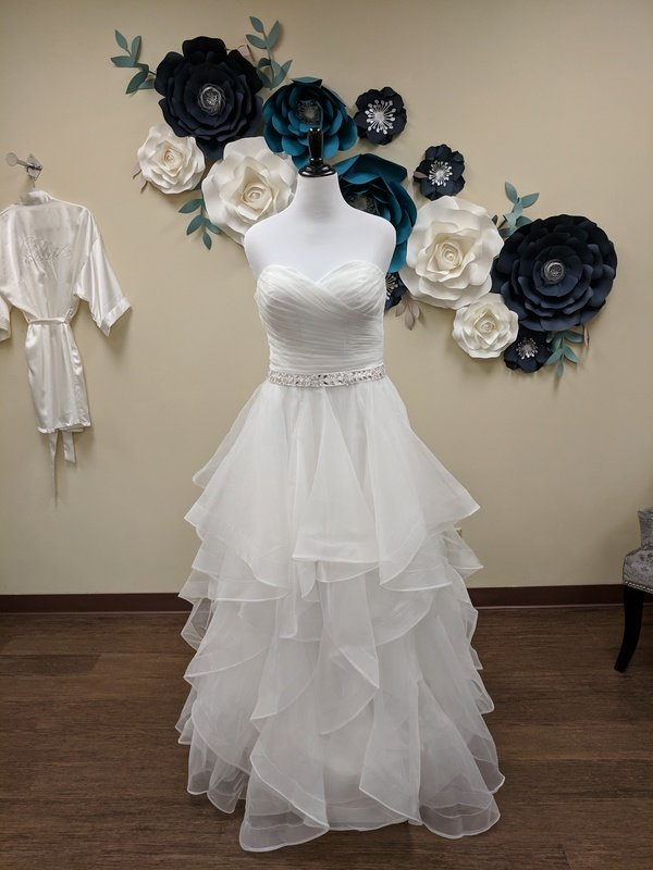 Strapless Belted Ballgown Sample Size 16