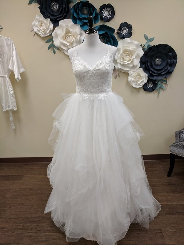 Scoop Back Ball Gown Sample Size 12