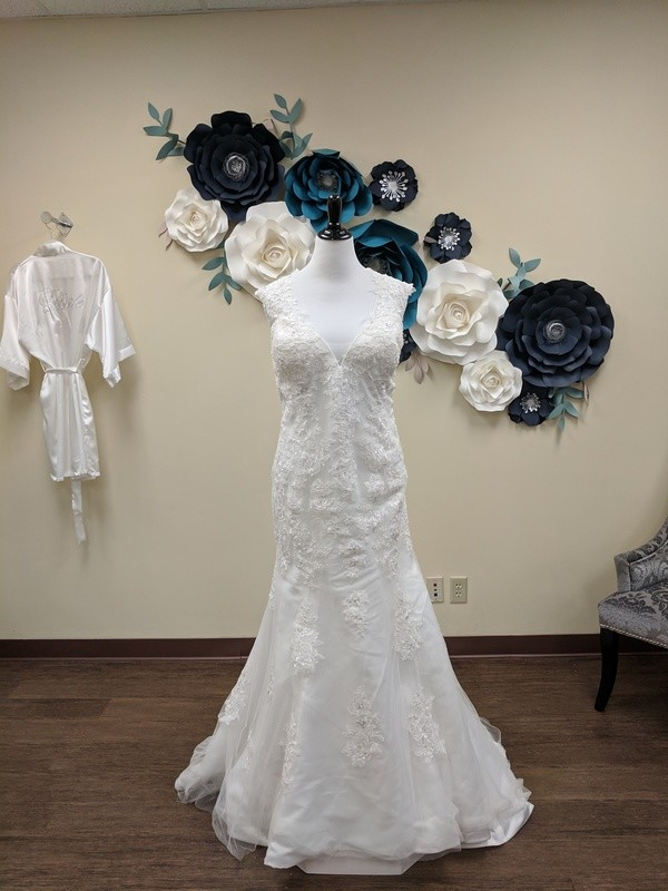 Lace Illusion Back Fit and Flare Sample Size 24w