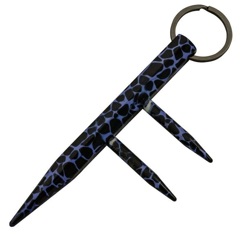 Two Prong Kubotan - Blue Leopard