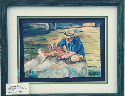 Original Framed Watercolor.