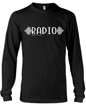 """Long Sleeve Custom """"RADIO"""" Pullover (Available in various colours)"""