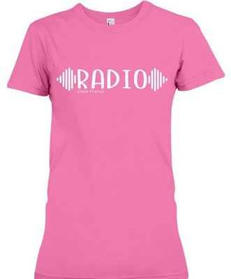 Codie Prevost Women's Fitted RADIO T-Shirt (Available in various colours)