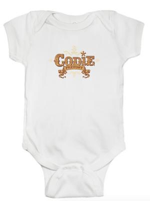 Codie Prevost Logo Baby Diaper Shirt