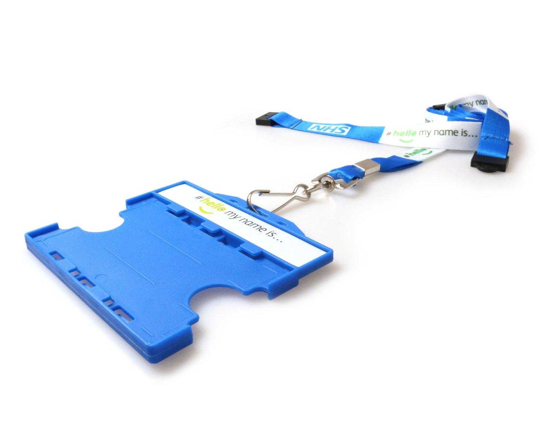 #hellomynameis Dual Sided Card Holder with NHS Lanyard