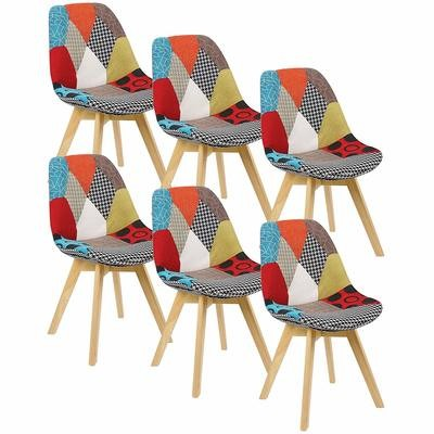 Chaise scandinave Robuste Patchwork