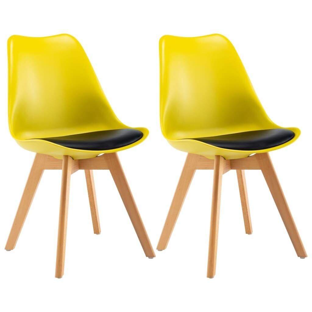 Lot de chaises scandinaves Robuste JAUNE & NOIR