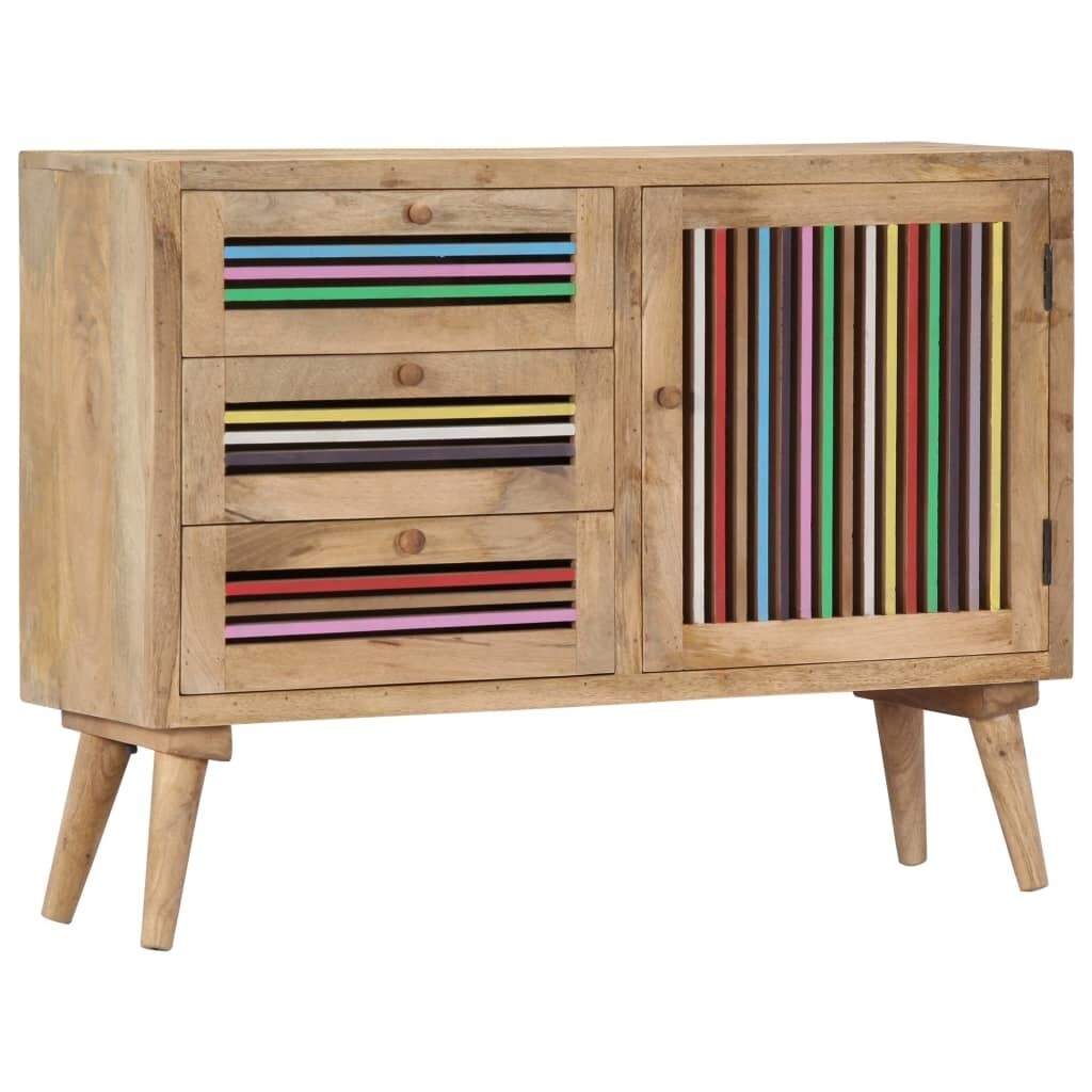 Buffet Colourful en bois massif de manguier