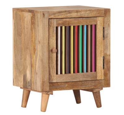 Table de chevet Colourful en bois massif de manguier
