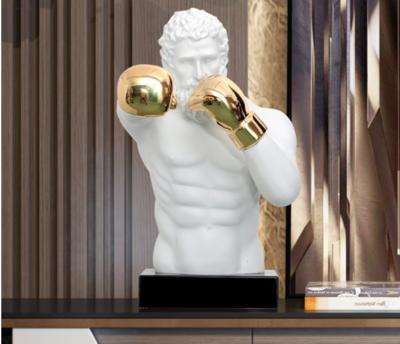 Buste de Soldat Romain Boxeur aux mains dorées