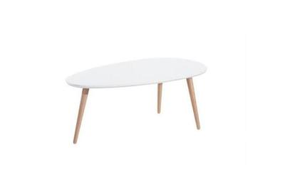 Table gigogne scandinave laquée BLANC