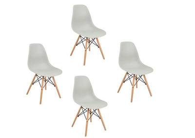 4 x Chaises scandinaves GRIS