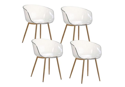 4 x Chaises translucides scandinaves