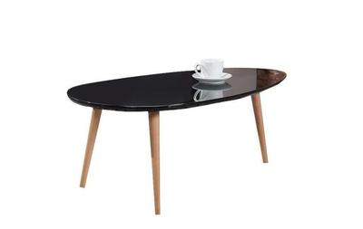 Table scandinave laquée NOIRE