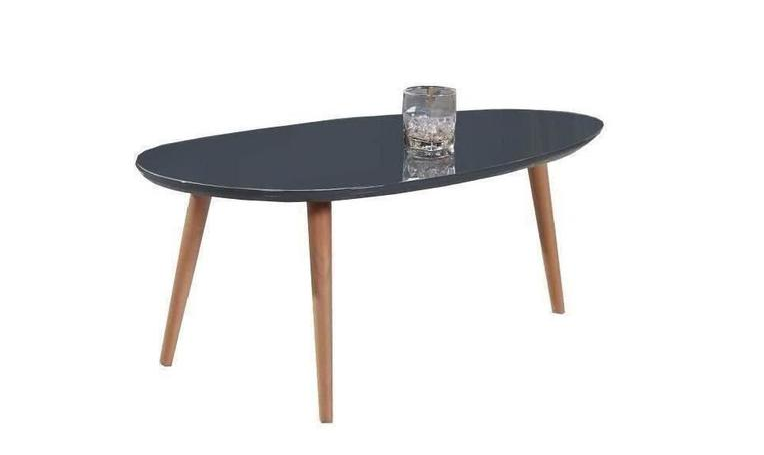 Table gigogne scandinave laquée GRISE