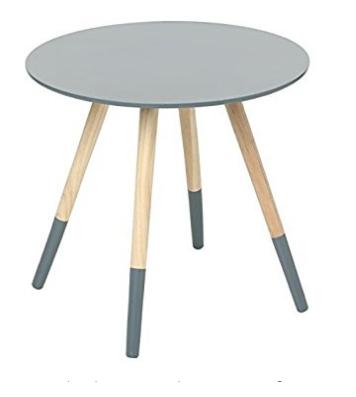 Table basse design moderne pieds robustes colorés GRIS