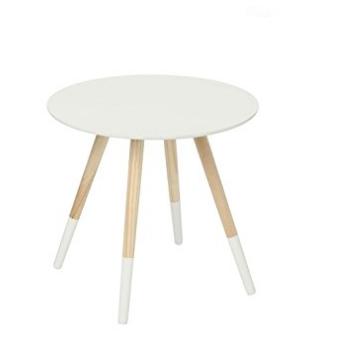 Table basse design moderne pieds robustes colorés BLANC