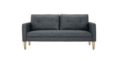 Canapé fixe scandinave en tissu gris