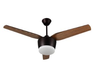 Plafonnier ventilateur LED en bois