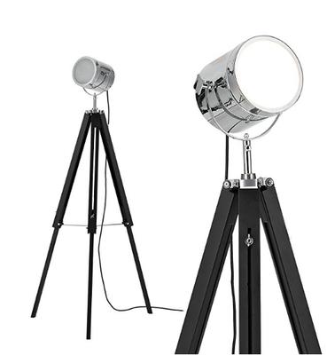 Lampe projecteur vintage Argent