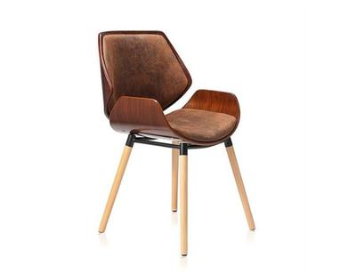 Chaise Retro en bois massif au style vintage Makela