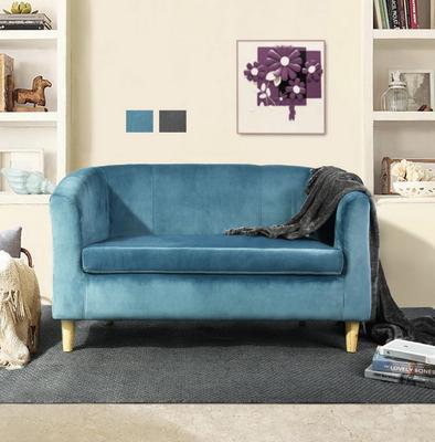 Canapé en velours scandinave chic & épuré - Bleu