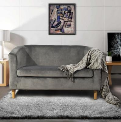 Canapé en velours scandinave chic & épuré - Gris