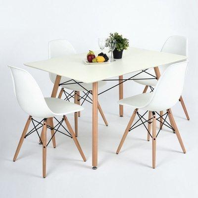 Table à manger scandinave BLANCHE