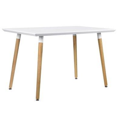 Table à manger scandinave Matata BLANC LAQUÉ