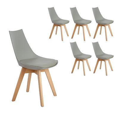 Lot de 6 chaises scandinaves Célina GRISES