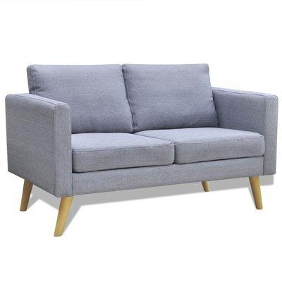 Canapé 2 places en tissu gris clair
