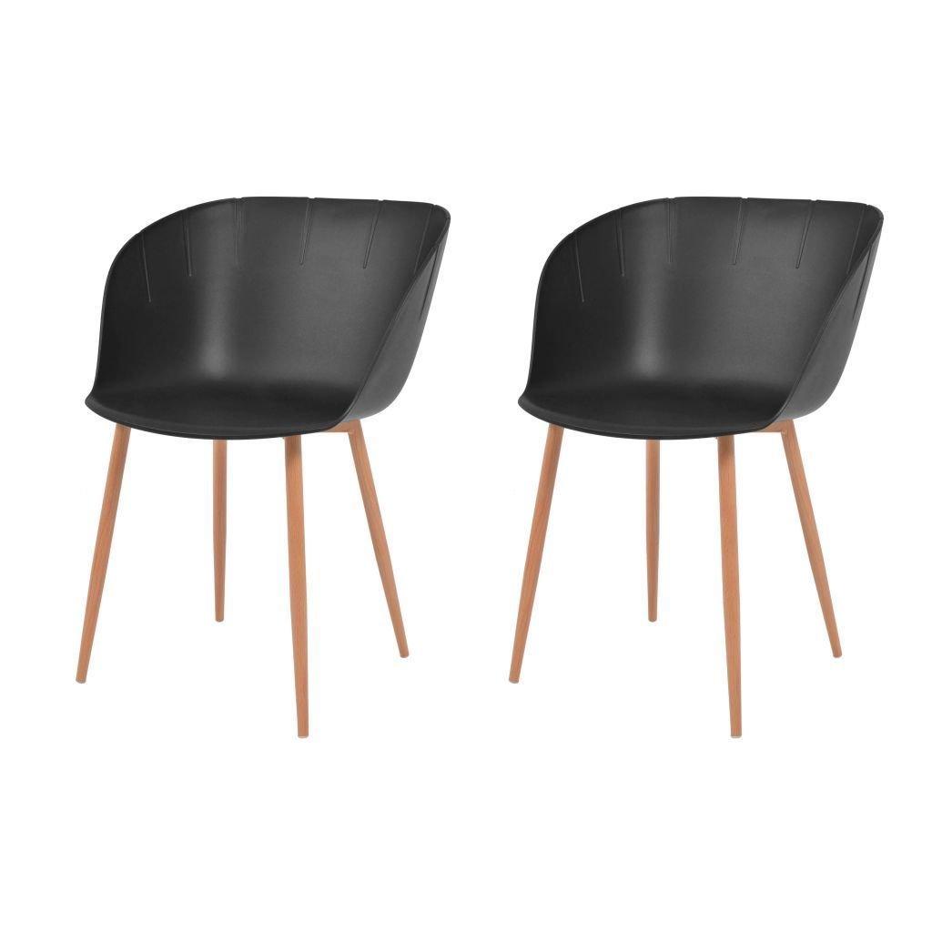 Lot de 2 chaises Capsulas contemporaines NOIRES