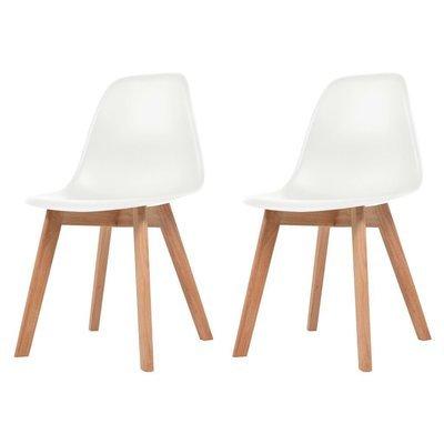 Lot de 2 chaises scandinaves robuste BLANC