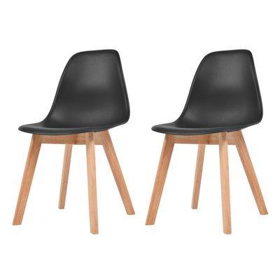 Lot de 2 chaises scandinaves robuste NOIR