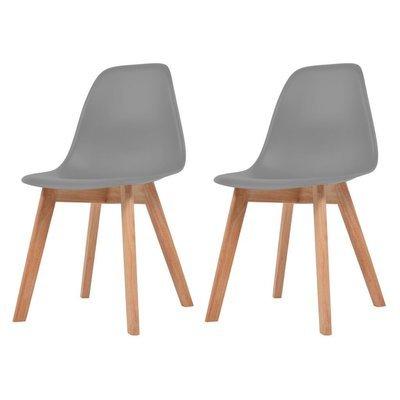 Lot de 2 chaises scandinaves robuste GRIS