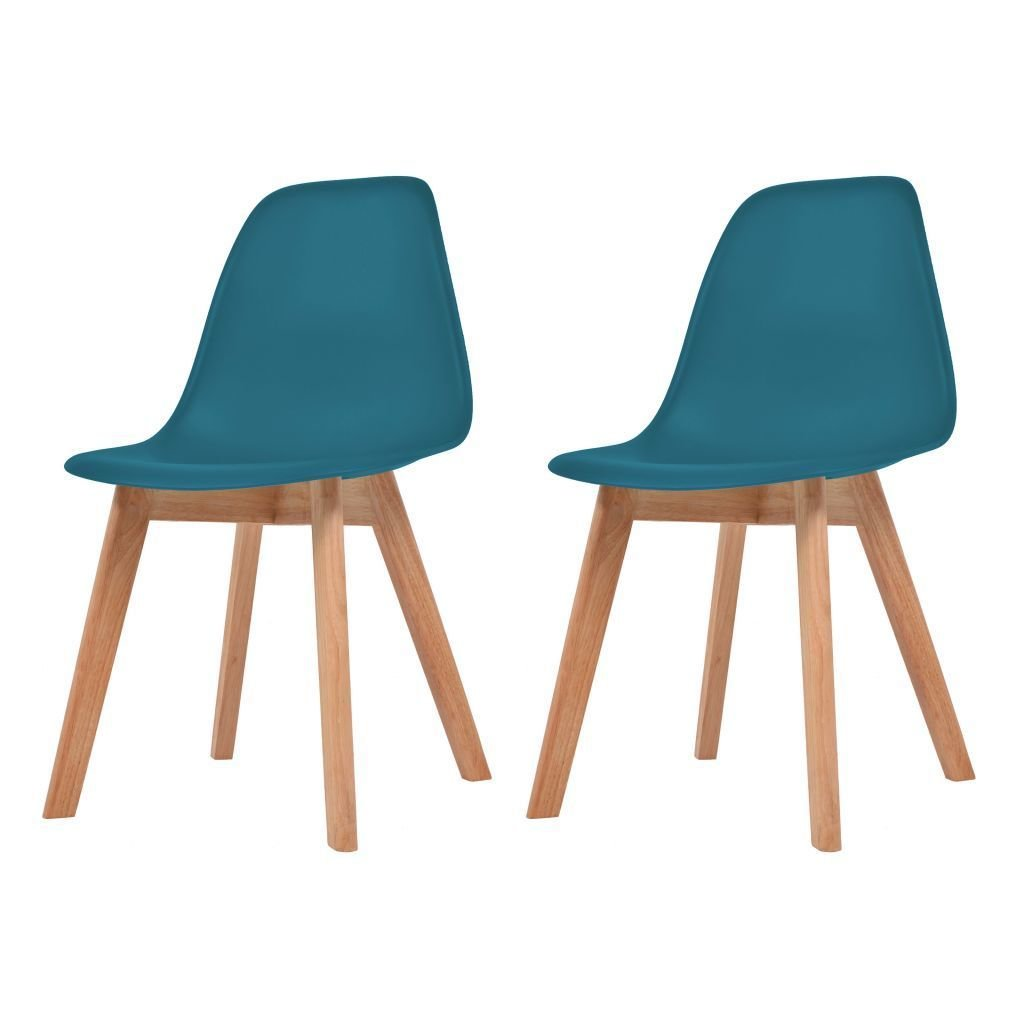Lot de 2 chaises scandinaves robuste TURQUOISE