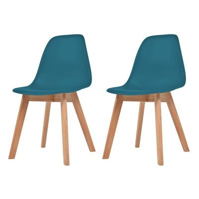 Lot de 2 chaises scandinaves robuste TURQUOISE