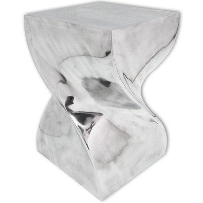 Table auxiliaire - Tabouret Torsadé argenté