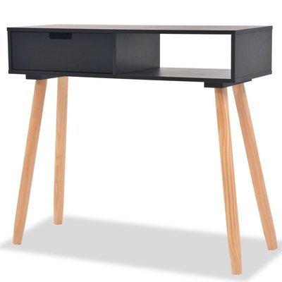 Table de console scandinave en bois de pin massif