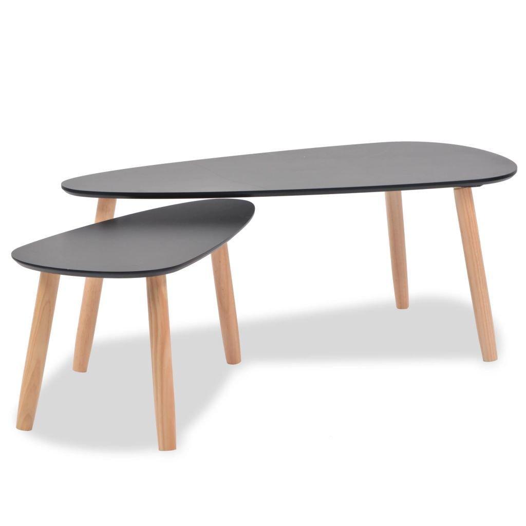 Set de 2 tables Gigognes NOIRES